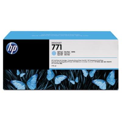 HP 771A 3-pack 775-ml Light Cyan DesignJet Ink Cartridges (B6Y44A)