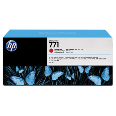 HP 771A 3-pack 775-ml Chromatic Red DesignJet Ink Cartridges (B6Y40A)