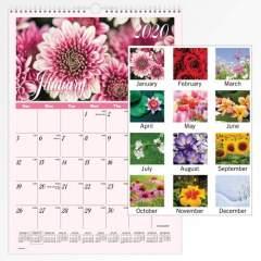 AT-A-GLANCE Flower Garden Monthly Wall Calendar (DMW30028)