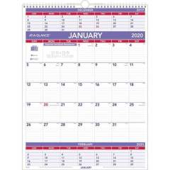 AT-A-GLANCE Recycled 3-Months-Per-Page Wall Calendar (PM1028)