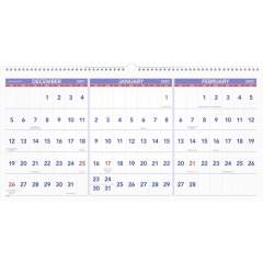 AT-A-GLANCE 3-Month Horizontal Wall Calendar (PM1428)