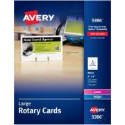 """Avery Large Rotary Cards, Uncoated, Two-Sided Printing, 3"""" x 5"""", 150 Cards (5386)"""