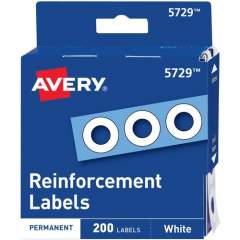 Avery Hole Reinforcements, White, 200 Labels (5729) (05729)