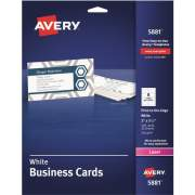 "Avery Business Cards, Print to the Edge, Uncoated, Two-Sided Printing, 2"" x 3-1/2"", 160 Cards (5881)"