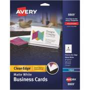 "Avery Clean Edge(R) Business Cards, Matte, Two-Sided Printing, 2"" x 3-1/2"", 160 Cards (8869)"