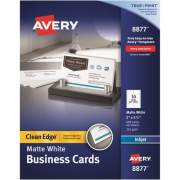 Avery Clean Edge(R) Business Cards, Matte, Two-Sided Printing, 400 Cards (8877)