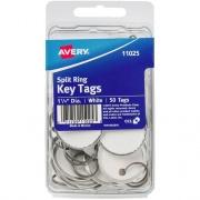 "Avery Key Tags, Split Ring, 1-1/4"" Diameter, 50 Tags (11025)"