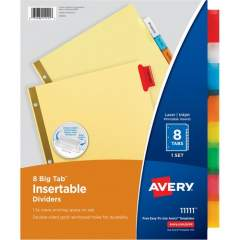 Avery Big Tab Insertable Dividers - Reinforced Gold Edge (11111)