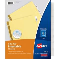 Avery Big Tab Insertable Dividers - Reinforced Gold Edge (11112)