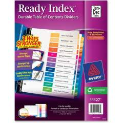 Avery Ready Index Binder Dividers - Customizable Table of Contents (11127)