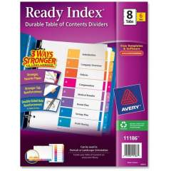 Avery Ready Index 8 Tab Dividers, Customizable TOC, 6 Sets (11186)