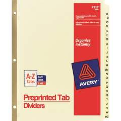 Avery Laminated Dividers - Gold Reinforced (11306)