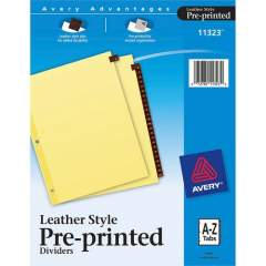 Avery Preprinted Tab Dividers - Clear Reinforced Edge (11323)