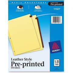 Avery Preprinted Tab Dividers - Clear Reinforced Edge (I21331)
