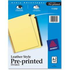 Avery Preprinted Tab Dividers - Gold Reinforced Edge (11350)