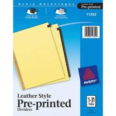 Avery Preprinted Tab Dividers - Gold Reinforced Edge (11352)