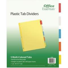 Avery Insertable Dividers, 5 Tab, Multicolor, 1 Set (11465)