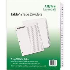 Avery Table 'n Tabs(R) Dividers with White Tabs, A-Z Tab, 1 Set (11676)