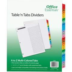 Avery Table 'n Tabs(R) Dividers with Multicolor Tabs, A-Z Tab, 1 Set (11677)