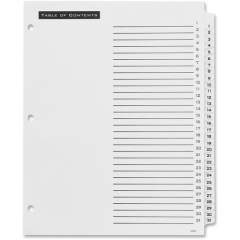 Avery Table 'n Tabs(R) Dividers with White Tabs, 1-31 Tab, 1 Set (11680)