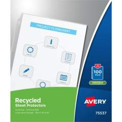 Avery Economy Recycled Sheet Protectors - Acid-free, Archival-Safe, Top-Loading (75537)