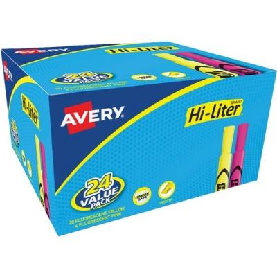 Avery Hi-Liter Desk-Style Highlighters - SmearSafe (98189)