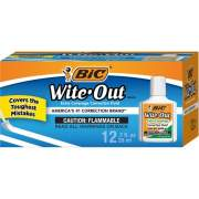 BIC Extra Coverage Wite-Out Brand Correction Fluid (WOFEC12WE)
