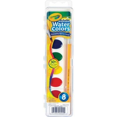 Crayola 8 Count Washable Watercolor Set (53-0525)
