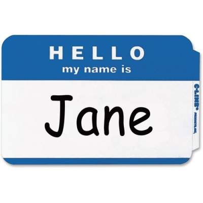 C-Line HELLO my name is... NameTags (92235)