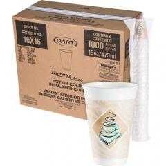 Dart Cafe G Design Foam Cups (16X16G)