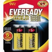 Eveready Gold Alkaline 9-Volt Batteries (A522BP2)