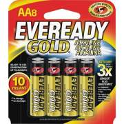 Eveready Gold 8-pack AA Batteries (A91BP8)