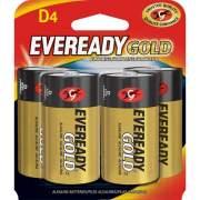 Eveready Gold Alkaline D Batteries (A95BP4)