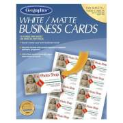 Geographics Inkjet, Laser Business Card - 30% Recycled (46102)