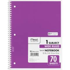Mead Spiral Bound Wide Ruled Notebooks (05510)