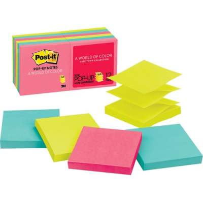 """3M Post-it Pop-up Notes, 3""""x 3"""", Cape Town Collection (R330-12AN)"""