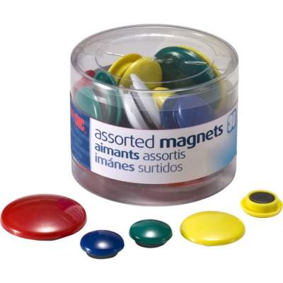 Officemate OIC Round Handy Magnets (92500)