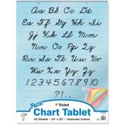 Pacon Cursive Cover Colored Paper Chart Tablet (74731)