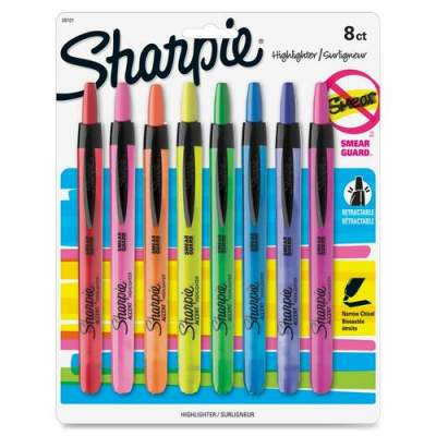 Sharpie Smear Guard Retractable Highlighters (28101)
