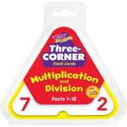 TREND Multiplication/Division Three-Corner Flash Card Set (T1671)