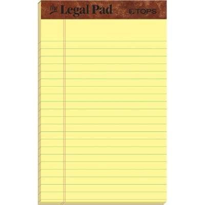 TOPS Leatherette Double - stitched Writing Pads - Jr.Legal (7501)