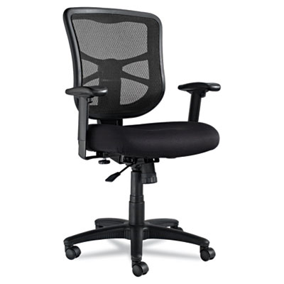 Alera Elusion Series Mesh Mid-Back Swivel/Tilt Chair, Supports up to 275 lbs., Black Seat/Black Back, Black Base (ALEEL42BME10B)