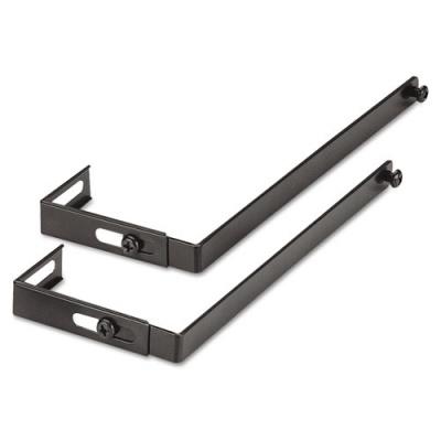 Universal Adjustable Cubicle Hangers, Black, Set of Two (UNV08173)
