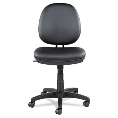 Alera Interval Series Swivel/Tilt Task Chair, Supports up to 275 lbs., Black Seat/Black Back, Black Base (ALEIN4819)