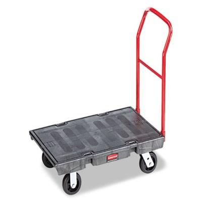 Rubbermaid Commercial Heavy-Duty Platform Truck Cart, 2,000 lb Capacity, 24 x 48 Platform, Black (FG443600BLA)