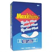 HOSPECO Maxithins Vended Sanitary Napkins, 100/Carton (MT4FS)