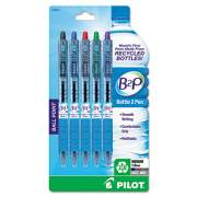 Pilot B2P Bottle-2-Pen Recycled Retractable Ballpoint Pen, 1mm, Assorted Ink, 5/Pack (32814)