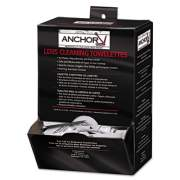 """Anchor Brand Lens Cleaning Towelettes, 5 in x 8"""", White, 100/Box (70AB)"""
