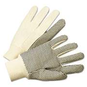 Anchor Brand Pvc-Dotted Canvas Gloves, White, One Size Fits All, 12 Pairs (1000)