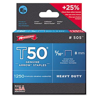 Arrow T50 Heavy Duty Staples, 0.31